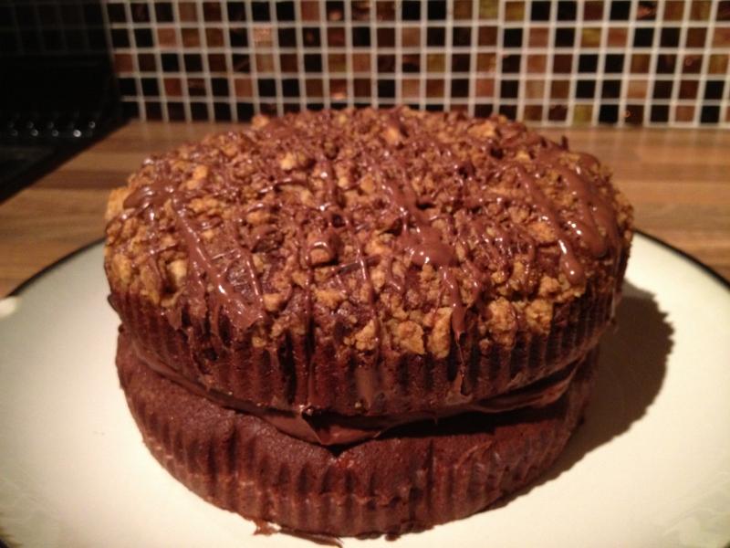 Chocolate and Banana Crumble Cake 1