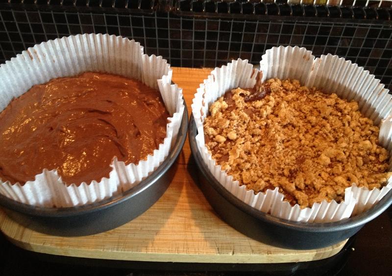 Chocolate and Banana Crumble Cake 2
