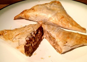 Chicken and Almond Filo Pasties 1