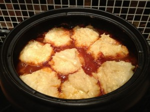 Rich Beef Casserole with Potato and Cheese Dumplings