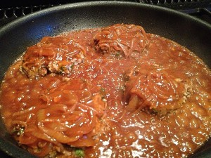 Beef Patties with onion Gravy  (2)