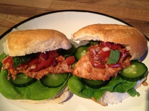 Chicken Tikka Burgers with Tomato salsa