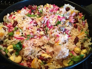 Jewelled Coconut and Mango Rice
