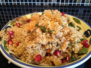 Chicken, pomegranate and mint Bulghar Wheat